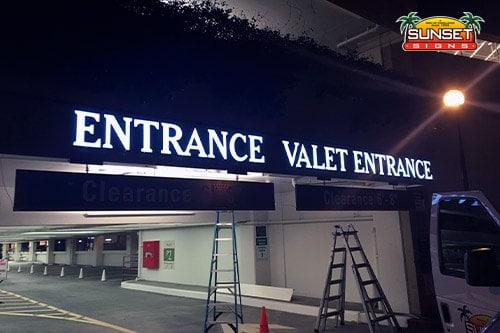 Acrylic LED Exterior Building Sign