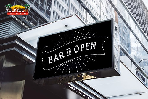 Commercial Signs Bar