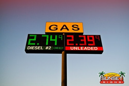 Digital Gas Price Signage