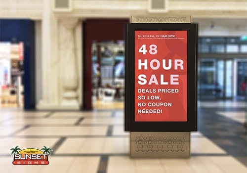 Electronic Message Display Boost Purchases