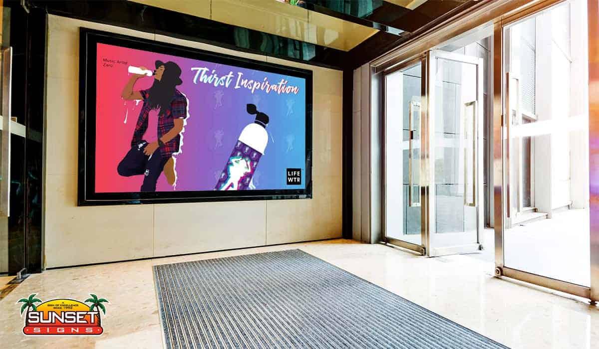 Interior Digital Display Sign