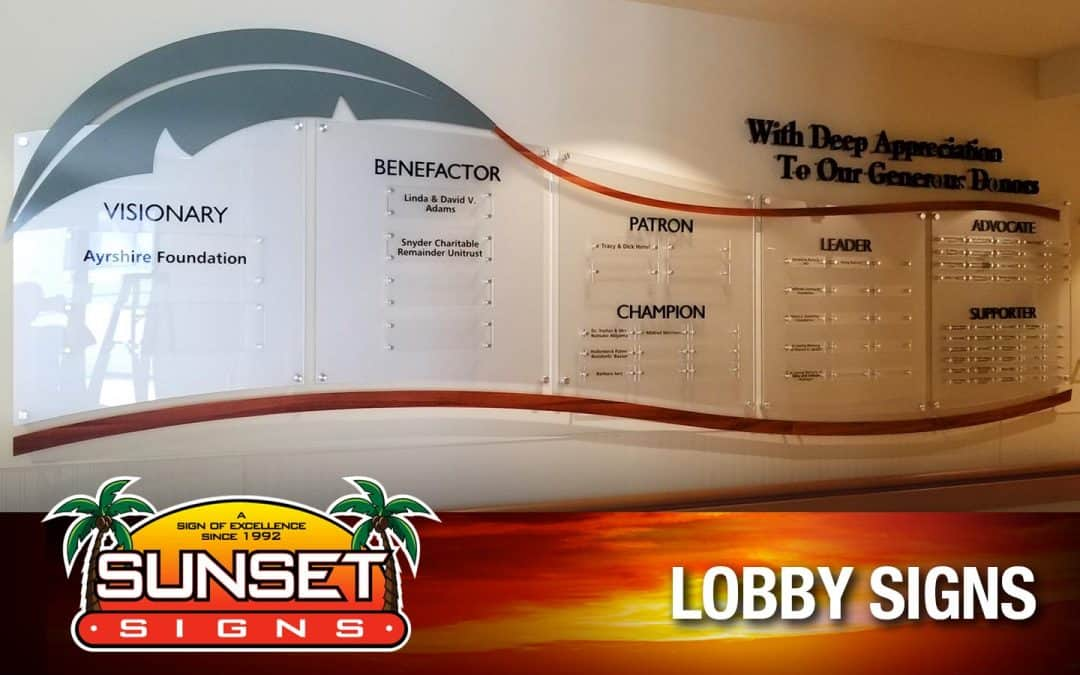 Lobby Signs