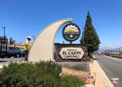 Monument Sign El Cajon