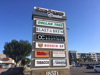 Outdoor Retail Monument Signs