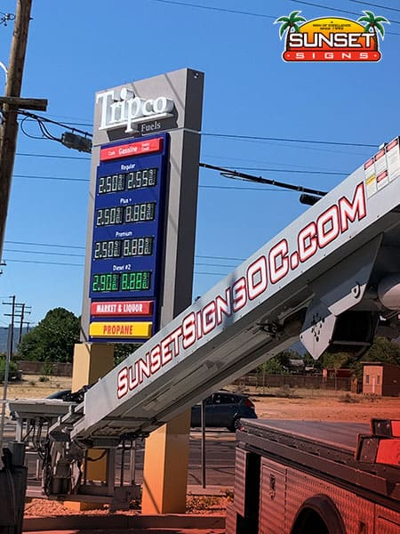 Prominent Fuel Price Sign Installation
