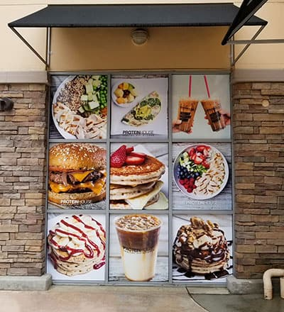 Restaurant Window Wrap