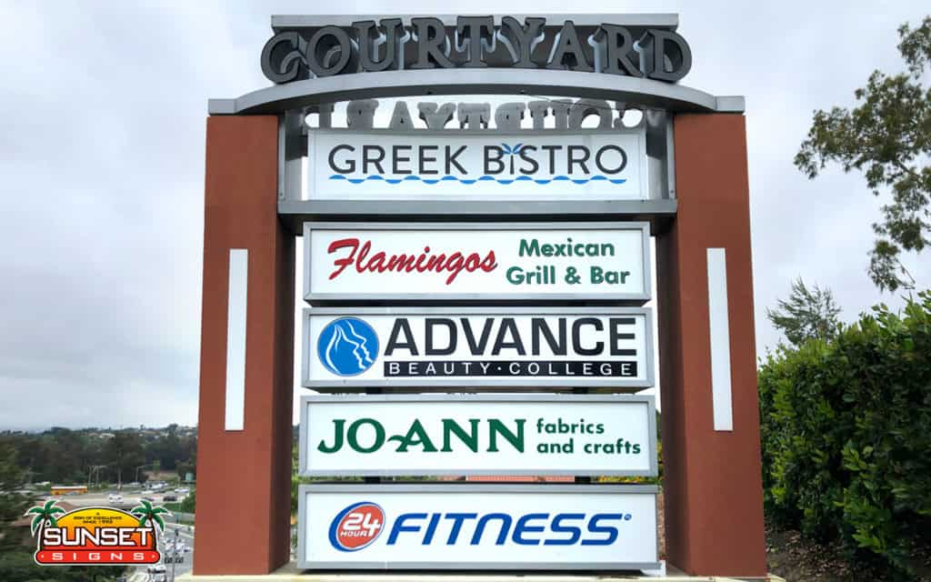 Strip Mall Signage • Custom High End Shopping Center Signs