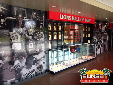 Sunset Wallpaper Mural Lions Basketball