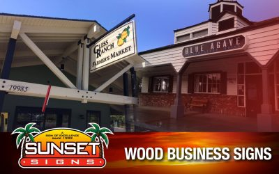 Wood Business Signs